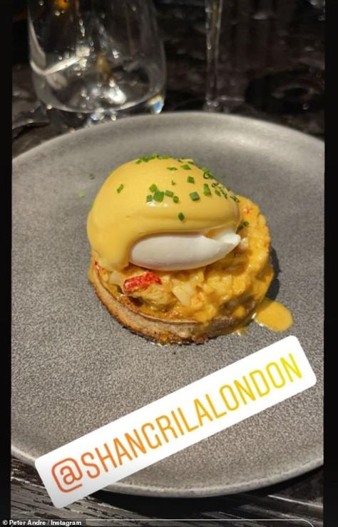 East meets West: One of their dishes comprised of a wholemeal crumpet, spiced butter, lobster and a poached egg