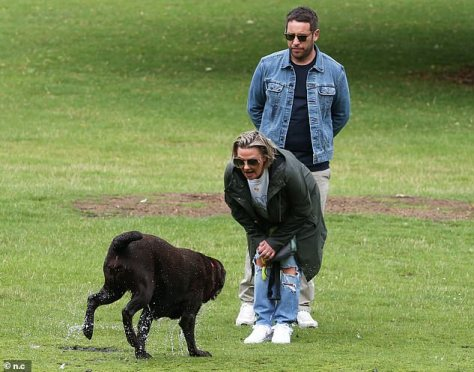 Puppy love: Lisa was seen with her dog Hurley, who was bought in 2013 as she and ex Ant struggled, and ultimately failed, to have a baby