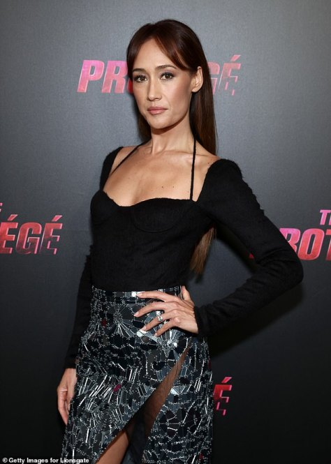 Sensational:Maggie Q looked sensational on Wednesday night as she attended a special screening of The Protégé in Los Angeles