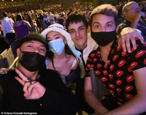 Date night: Ari and her new husband Dalton Gomez were seen together a few weeks ago at Christina Aguilera's two-night show with Los Angeles Philharmonic