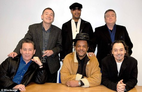 Band: UB40 - Astro, James Brown, Duncan Campbell, Robin Campbell, Brian Travers and Earl Falconer pictured in 2009
