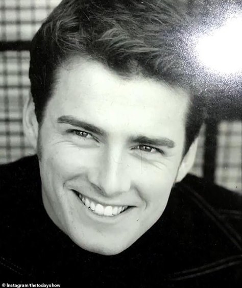 Throwback: In one photo, a young Karl smiles for the camera at the start of his TV career