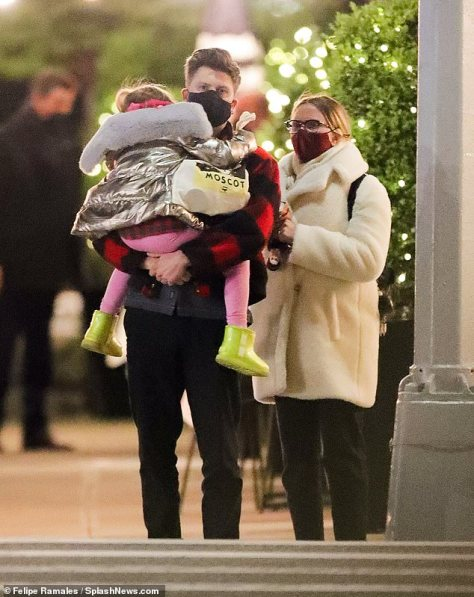 Sweet: The 36-year-old A-list actress already has one child - a six-year-old daughter named Rose Dorothy Dauriac (Colin is seen carrying her in New York City back in April)