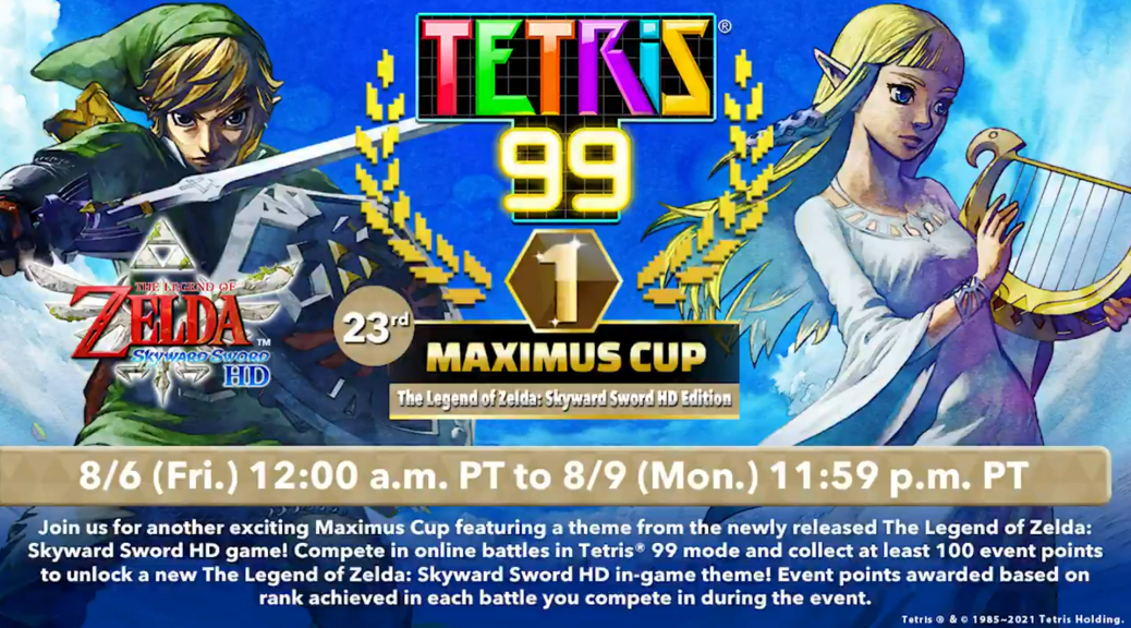 This is the start of the 23rd Tetris 99 Maximus Cup Week