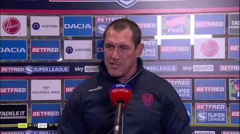 Kristian Woolf said Mark Percival is the best centre in the league after St Helens beat Warrington 24-14
