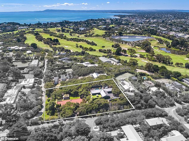 Paradise: Shane - who is currently in England - is said to have purchased the Mornington Peninsula property in October (pictured) last year for $3.6million
