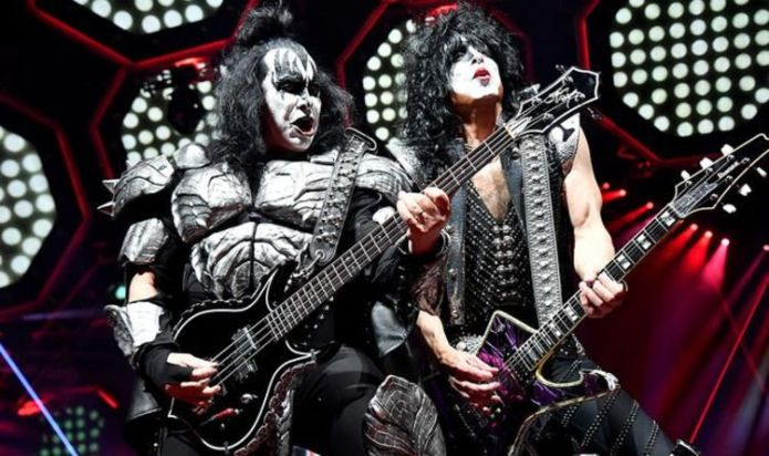 KISS' final tour is postponed following positive COVID-19 tests by Gene Simmons and Paul Stanley