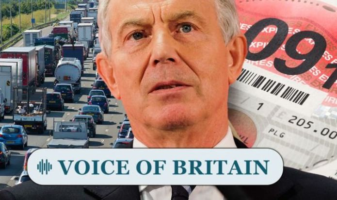 Tony Blair's plan for a pay-per mile road tax is deemed 'idiotic' New poll finds Britons out