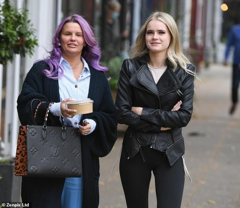 Girls day out:Kerry Katona enjoyed some quality time with her daughter Lilly-Sue, 18, on Saturday, amid drama at home with their pet Rottweiler, who reportedly 'savaged' Kerry's 13-year-old son Max's arm