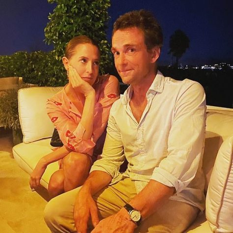 Ollie Birkbeck, 48, is to become a father with Sophia Hesketh, 37, (both pictured) the fashion stylist daughter of former Tory treasurer Lord Hesketh, after a whirlwind romance