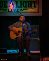 Dave Martinez at The Blue Light. Photograph by Susan Marinello/New Slang