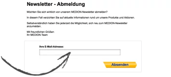 Medion Newsletter abmelden