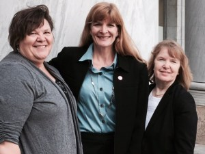 Amber Mathewson, Kathy Husser, and Holly Henley after a full day of legislative visits on Capitol Hill.