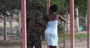 kenyan soldier & Student
