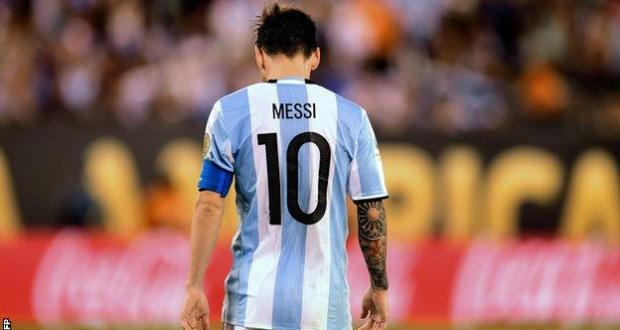 Lionel Messi who has just retired from his international team