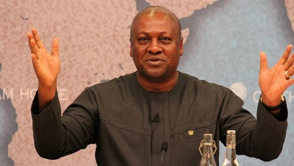 Ghana president and journalist