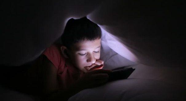 smartphone at night