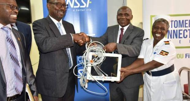 nssf donates health equipments to hospitals