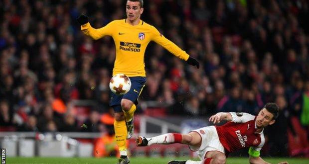Arsenal1-1 Atletico Madrid
