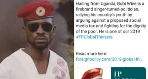 Bobi Wine Feels Honored Amongst The Most Wise Thinkers