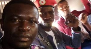Bobi Wine Joins Hands For A Peaceful Demonstration
