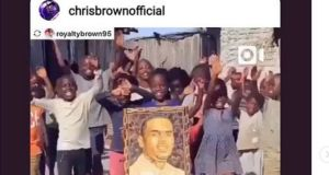 chris brown and ugandan kids