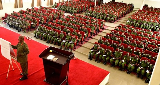 museveni lectures military