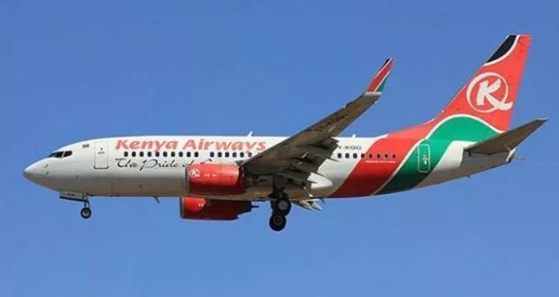 kenya airways plane in London