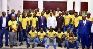 Museveni and Uganda Cranes