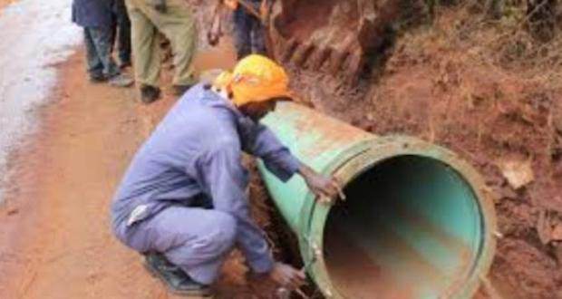 Nairobi sewerage pipe system