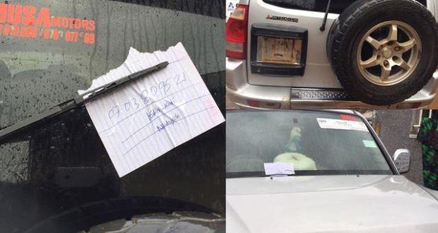 Khalifah Aganaga Cries After Criminals Plucking Off His Car Number Plates