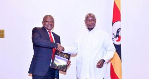 Museveni Discusses South Sudan Peace Process With H.E David Mabuza