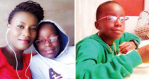 Juliana kanyomozi and her late son Keron