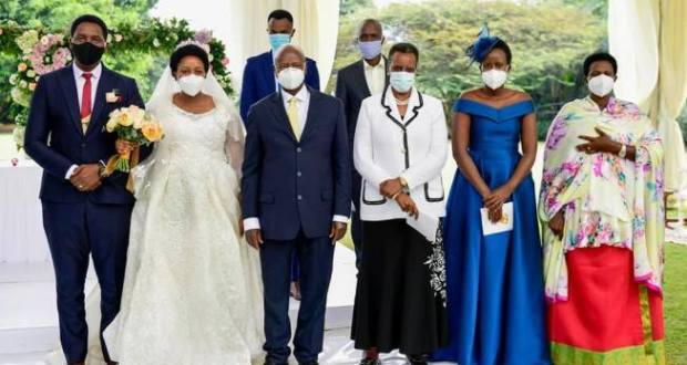 President Museveni Attends His Cousin's Scientific Wedding