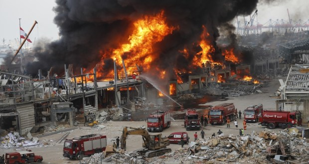 Port In Beirut Catches Fire A Month After Explosion