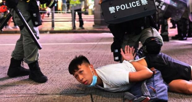 three arrested in Hong Kong