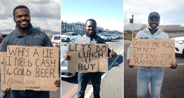 Meet A Hilarious Man Who Resorted To Begging After Losing His Job
