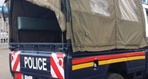 Man stones police vehicle before hiding in church