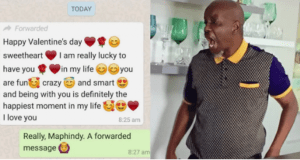 Woman Forwarded To Him Valentines Day Message She Received From Another Lover