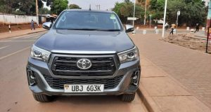 Basajja Mivule Rewarded With A Heavy Toyota Hilux Double Cabin