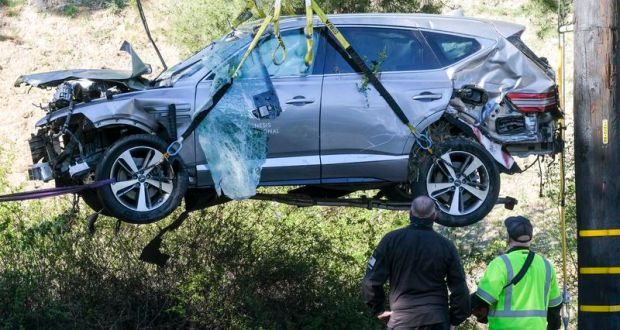 Tiger Woods Suffers Injuries After High-Speed Crash