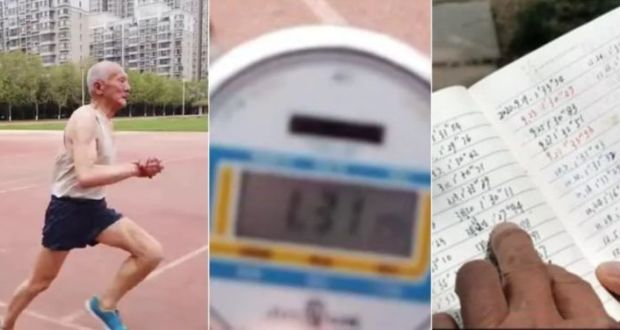 81-Year-Old Chinese Man Runs 400 Metres Every Day, Surprises Netizens