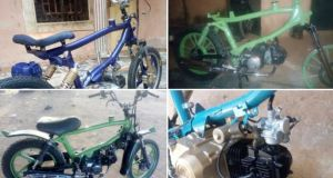 Highly Skilled Man With No Formal Education Builds Motorcycles, Netizens Impressed With His Talent