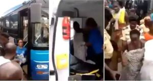 Brave Woman Gives Birth In Public Bus, Netizens React As The Video Emerges