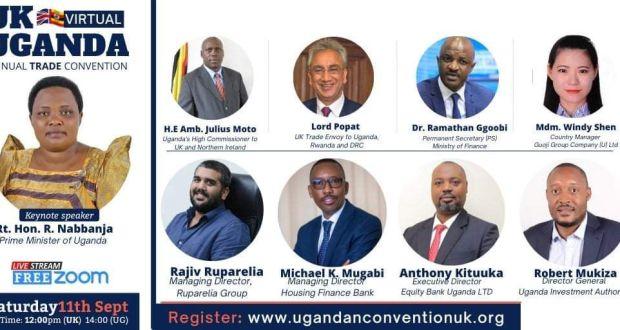 PM Nabbanja, Lord Popat, PS Ggoobi, Rajiv To Speak At UK-Uganda Summit