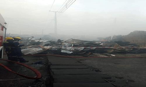 BREAKING: Lagos market Katangowa on fire