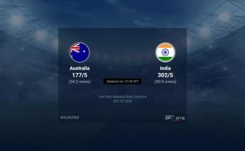 Australia vs India live score over 3rd ODI ODI 31 35 updates | Cricket News