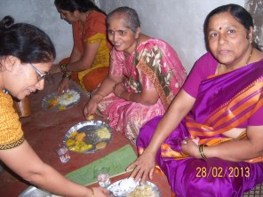 Women enjoying the meal