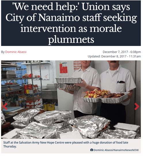 Nanaimo News Now article