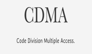 Full form of CDMA